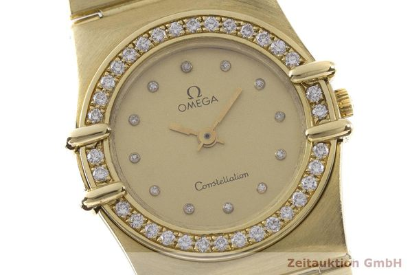 gebrauchte Luxusuhr Omega Constellation 18k Gold Quarz Kal. 1450 Ref. 6950001  | 183098 02