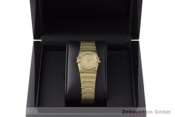gebrauchte Luxusuhr Omega Constellation 18k Gold Quarz Kal. 1450 Ref. 6950001  | 183098 07