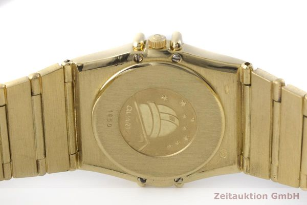 gebrauchte Luxusuhr Omega Constellation 18k Gold Quarz Kal. 1450 Ref. 6950001  | 183098 09