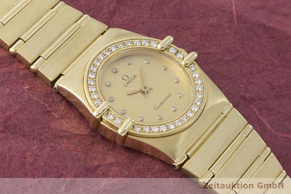 gebrauchte Luxusuhr Omega Constellation 18k Gold Quarz Kal. 1450 Ref. 6950001  | 183098 14