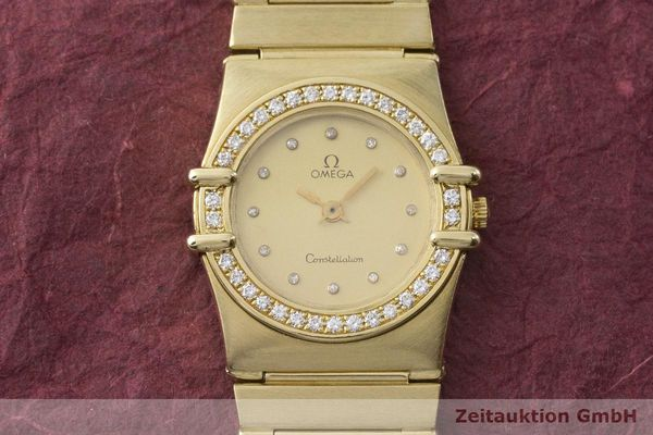 gebrauchte Luxusuhr Omega Constellation 18k Gold Quarz Kal. 1450 Ref. 6950001  | 183098 15