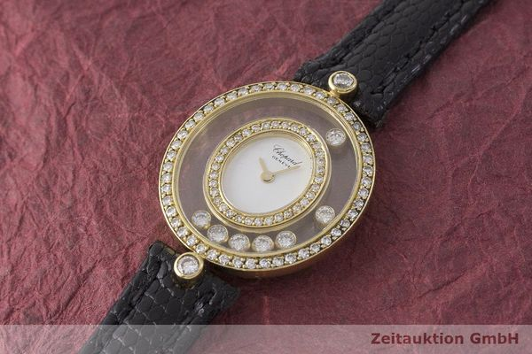 gebrauchte Luxusuhr Chopard Happy Diamonds 18k Gold Quarz Kal. Eta 201001 Ref. 20/4292  | 183106 01