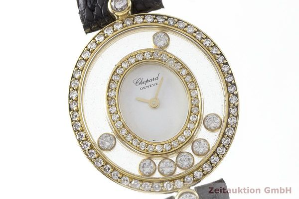 gebrauchte Luxusuhr Chopard Happy Diamonds 18k Gold Quarz Kal. Eta 201001 Ref. 20/4292  | 183106 02