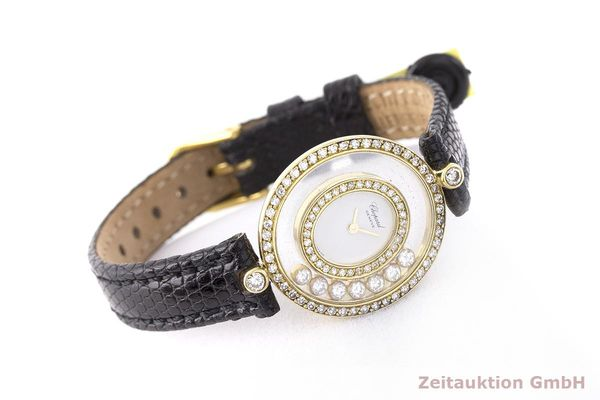 gebrauchte Luxusuhr Chopard Happy Diamonds 18k Gold Quarz Kal. Eta 201001 Ref. 20/4292  | 183106 03