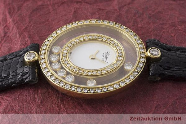 gebrauchte Luxusuhr Chopard Happy Diamonds 18k Gold Quarz Kal. Eta 201001 Ref. 20/4292  | 183106 05