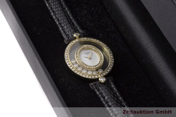 gebrauchte Luxusuhr Chopard Happy Diamonds 18k Gold Quarz Kal. Eta 201001 Ref. 20/4292  | 183106 07