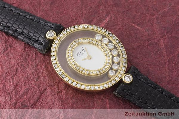 gebrauchte Luxusuhr Chopard Happy Diamonds 18k Gold Quarz Kal. Eta 201001 Ref. 20/4292  | 183106 14