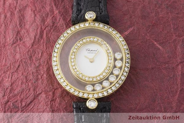 gebrauchte Luxusuhr Chopard Happy Diamonds 18k Gold Quarz Kal. Eta 201001 Ref. 20/4292  | 183106 15
