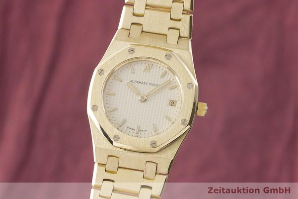 gebrauchte Luxusuhr Audemars Piguet Royal Oak 18k Gold Quarz Kal. 2610 Ref. C87056  | 183410 04