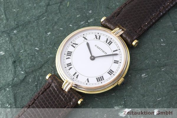 gebrauchte Luxusuhr Cartier Vendome 18k Gold Quarz Kal. 81  | 183513 01