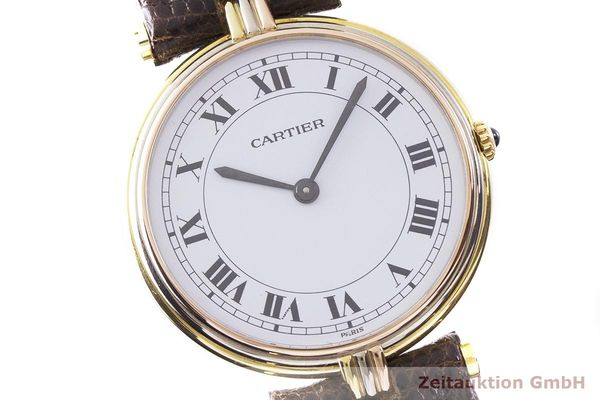 gebrauchte Luxusuhr Cartier Vendome 18k Gold Quarz Kal. 81  | 183513 02
