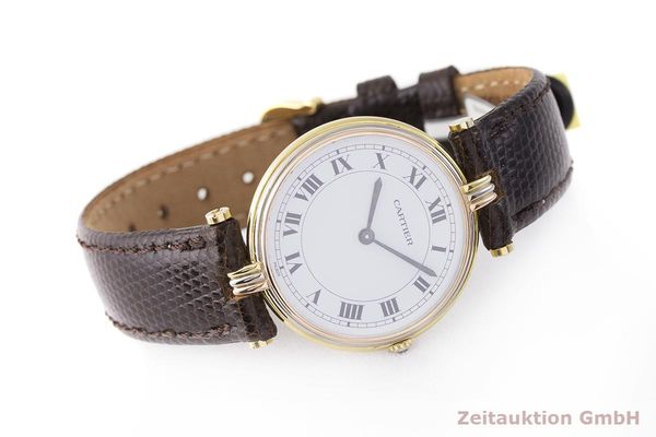 gebrauchte Luxusuhr Cartier Vendome 18k Gold Quarz Kal. 81  | 183513 03