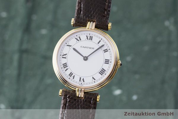 gebrauchte Luxusuhr Cartier Vendome 18k Gold Quarz Kal. 81  | 183513 04