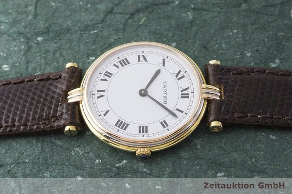 gebrauchte Luxusuhr Cartier Vendome 18k Gold Quarz Kal. 81  | 183513 05