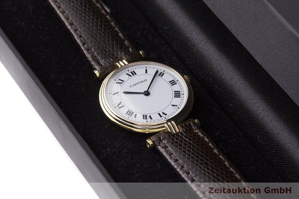 gebrauchte Luxusuhr Cartier Vendome 18k Gold Quarz Kal. 81  | 183513 07