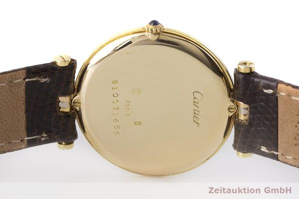 gebrauchte Luxusuhr Cartier Vendome 18k Gold Quarz Kal. 81  | 183513 09