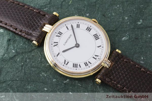 gebrauchte Luxusuhr Cartier Vendome 18k Gold Quarz Kal. 81  | 183513 13