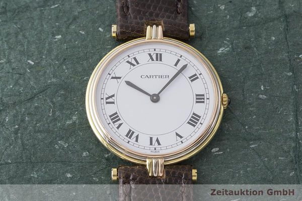gebrauchte Luxusuhr Cartier Vendome 18k Gold Quarz Kal. 81  | 183513 14