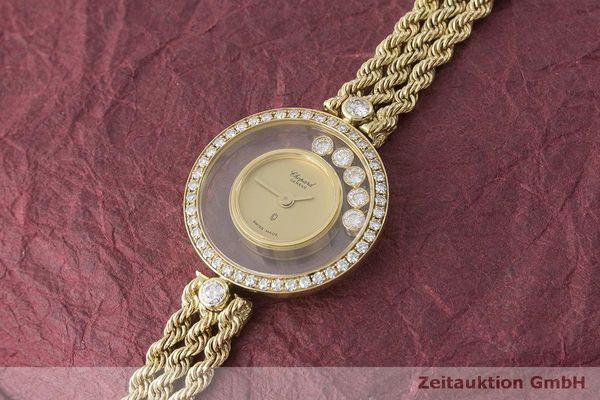 gebrauchte Luxusuhr Chopard Happy Diamonds 18k Gold Quarz Kal. F.H.F 101001 Ref. G3926  | 183515 01