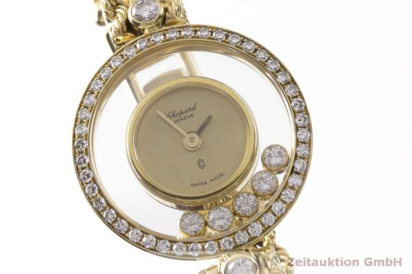gebrauchte Luxusuhr Chopard Happy Diamonds 18k Gold Quarz Kal. F.H.F 101001 Ref. G3926  | 183515 02