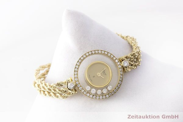 gebrauchte Luxusuhr Chopard Happy Diamonds 18k Gold Quarz Kal. F.H.F 101001 Ref. G3926  | 183515 03