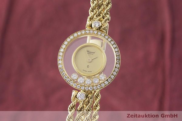 gebrauchte Luxusuhr Chopard Happy Diamonds 18k Gold Quarz Kal. F.H.F 101001 Ref. G3926  | 183515 04