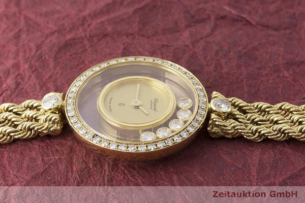 gebrauchte Luxusuhr Chopard Happy Diamonds 18k Gold Quarz Kal. F.H.F 101001 Ref. G3926  | 183515 05