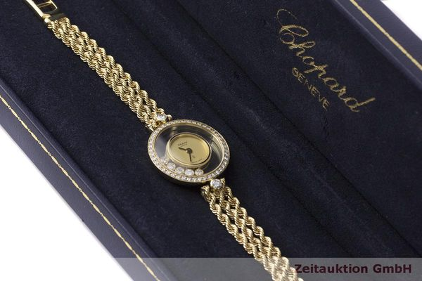 gebrauchte Luxusuhr Chopard Happy Diamonds 18k Gold Quarz Kal. F.H.F 101001 Ref. G3926  | 183515 07