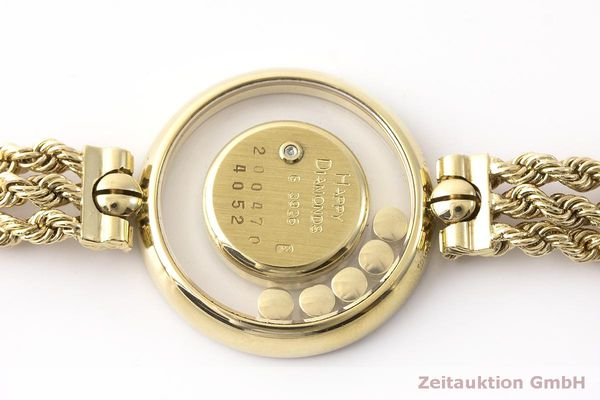 gebrauchte Luxusuhr Chopard Happy Diamonds 18k Gold Quarz Kal. F.H.F 101001 Ref. G3926  | 183515 08