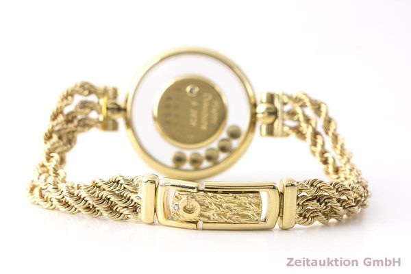 gebrauchte Luxusuhr Chopard Happy Diamonds 18k Gold Quarz Kal. F.H.F 101001 Ref. G3926  | 183515 09