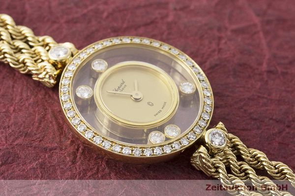 gebrauchte Luxusuhr Chopard Happy Diamonds 18k Gold Quarz Kal. F.H.F 101001 Ref. G3926  | 183515 12