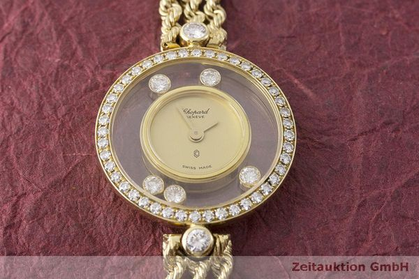 gebrauchte Luxusuhr Chopard Happy Diamonds 18k Gold Quarz Kal. F.H.F 101001 Ref. G3926  | 183515 13