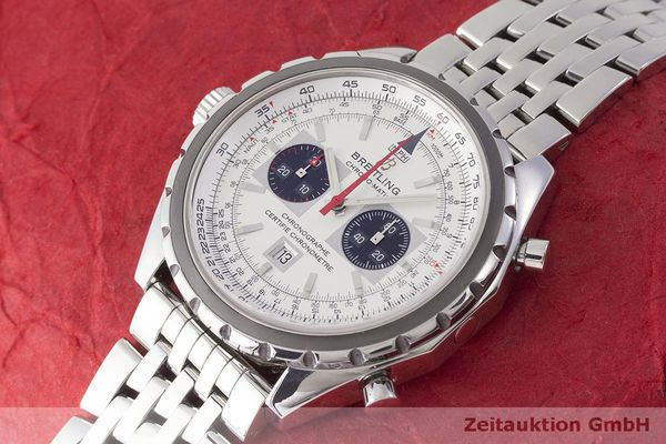 gebrauchte Luxusuhr Breitling Chrono-Matic Chronograph Stahl Automatik Kal. 2892A2 Ref. A41360  | 183581 01