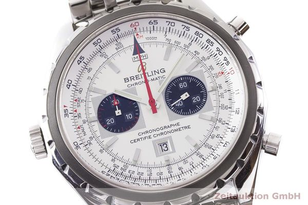 gebrauchte Luxusuhr Breitling Chrono-Matic Chronograph Stahl Automatik Kal. 2892A2 Ref. A41360  | 183581 02