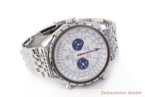 gebrauchte Luxusuhr Breitling Chrono-Matic Chronograph Stahl Automatik Kal. 2892A2 Ref. A41360  | 183581 03