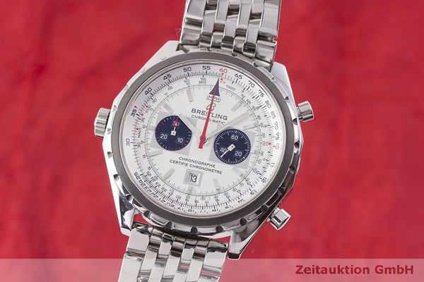 gebrauchte Luxusuhr Breitling Chrono-Matic Chronograph Stahl Automatik Kal. 2892A2 Ref. A41360  | 183581 04