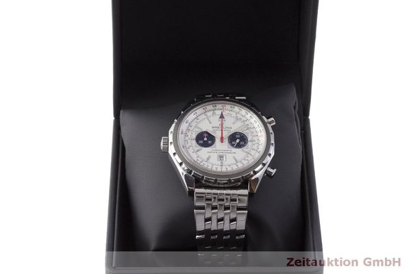 gebrauchte Luxusuhr Breitling Chrono-Matic Chronograph Stahl Automatik Kal. 2892A2 Ref. A41360  | 183581 07