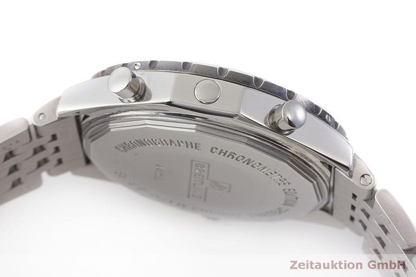 gebrauchte Luxusuhr Breitling Chrono-Matic Chronograph Stahl Automatik Kal. 2892A2 Ref. A41360  | 183581 08