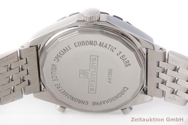 gebrauchte Luxusuhr Breitling Chrono-Matic Chronograph Stahl Automatik Kal. 2892A2 Ref. A41360  | 183581 09