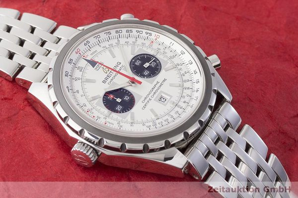 gebrauchte Luxusuhr Breitling Chrono-Matic Chronograph Stahl Automatik Kal. 2892A2 Ref. A41360  | 183581 15