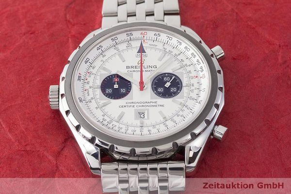 gebrauchte Luxusuhr Breitling Chrono-Matic Chronograph Stahl Automatik Kal. 2892A2 Ref. A41360  | 183581 16
