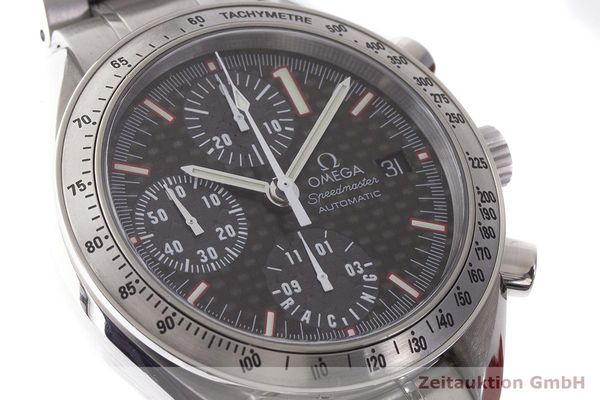 gebrauchte Luxusuhr Omega Speedmaster Racing Chronograph Stahl Automatik Kal. 1152 Ref. 175.0086 LIMITED EDITION | 183804 02