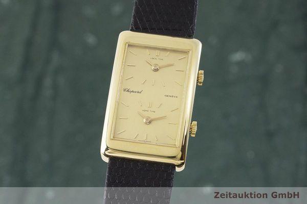 gebrauchte Luxusuhr Chopard Dual Time 18k Gold Handaufzug Kal. ETA 2412 Ref. 2087  | 1900007 _0