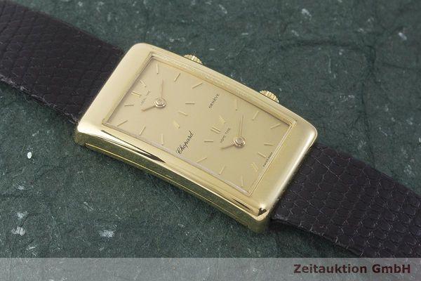gebrauchte Luxusuhr Chopard Dual Time 18k Gold Handaufzug Kal. ETA 2412 Ref. 2087  | 1900007 _1