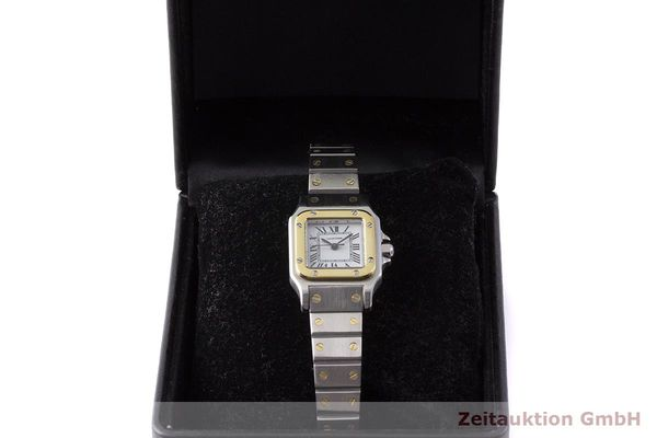 gebrauchte Luxusuhr Cartier Santos Stahl / Gold Automatik Kal. ETA 2651  | 1900011 _0