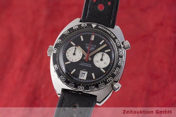 gebrauchte Luxusuhr Heuer Autavia Chronograph Stahl Automatik Kal. 11 Ref. 1163 VINTAGE  | 1900018 _0