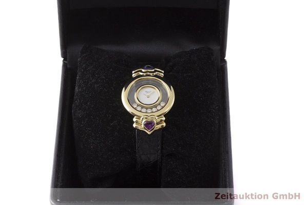 gebrauchte Luxusuhr Chopard Happy Diamonds 18k Gold Quarz Kal. ETA 201.001  | 1900025 _0