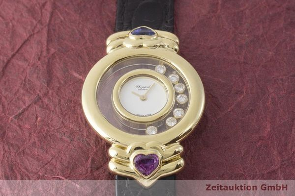 gebrauchte Luxusuhr Chopard Happy Diamonds 18k Gold Quarz Kal. ETA 201.001  | 1900025 _1