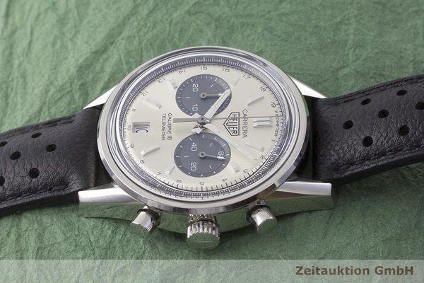 gebrauchte Luxusuhr Tag Heuer Carrera Chronograph Stahl Automatik Kal. 18, Sellita SW300-1 Ref. CAR221A  | 1900030 _0