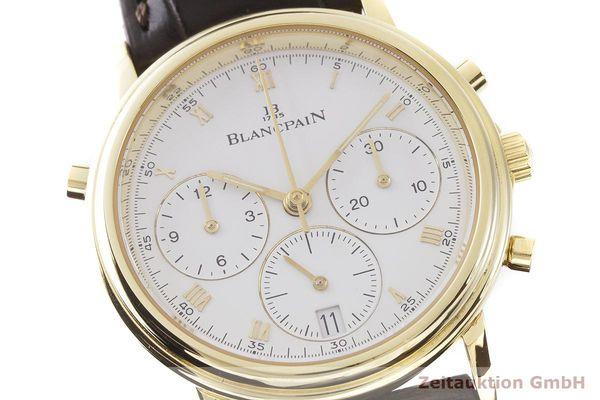 gebrauchte Luxusuhr Blancpain Villeret Chronograph 18k Gold Automatik Kal. 1186 Ref. 1186-141855    1900032 _0